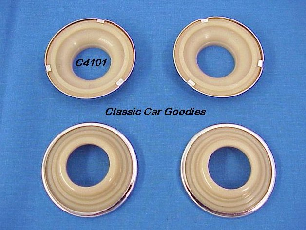 1941 Chevy Door / Window Handle Escutcheons (4) New!