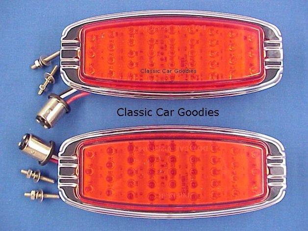 1948 Chevy LED Tail Lights (2) 39 Leds. Chrome Bezel. New!