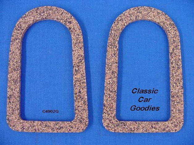 1949-1950 Chevy Tail Light Lens Gaskets (2) Cork. New.