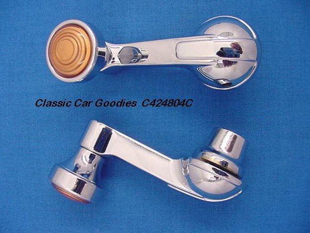 1947 Chevy Vent Window Handles (2) with Chrome Knobs!