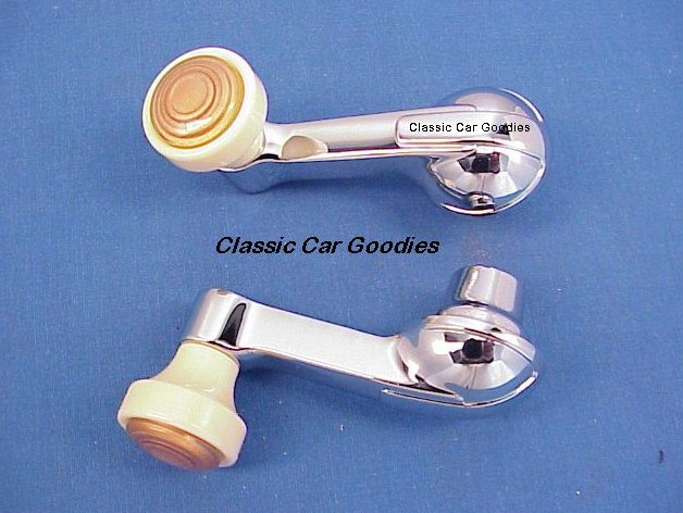 1946 Chevy Vent Window Handles (2) with Ivory Knobs!