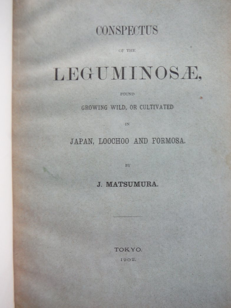 Image 1 of Conspectus of the Leguminosae Found Growing Wild, or Cultivated in Japan, Loocho