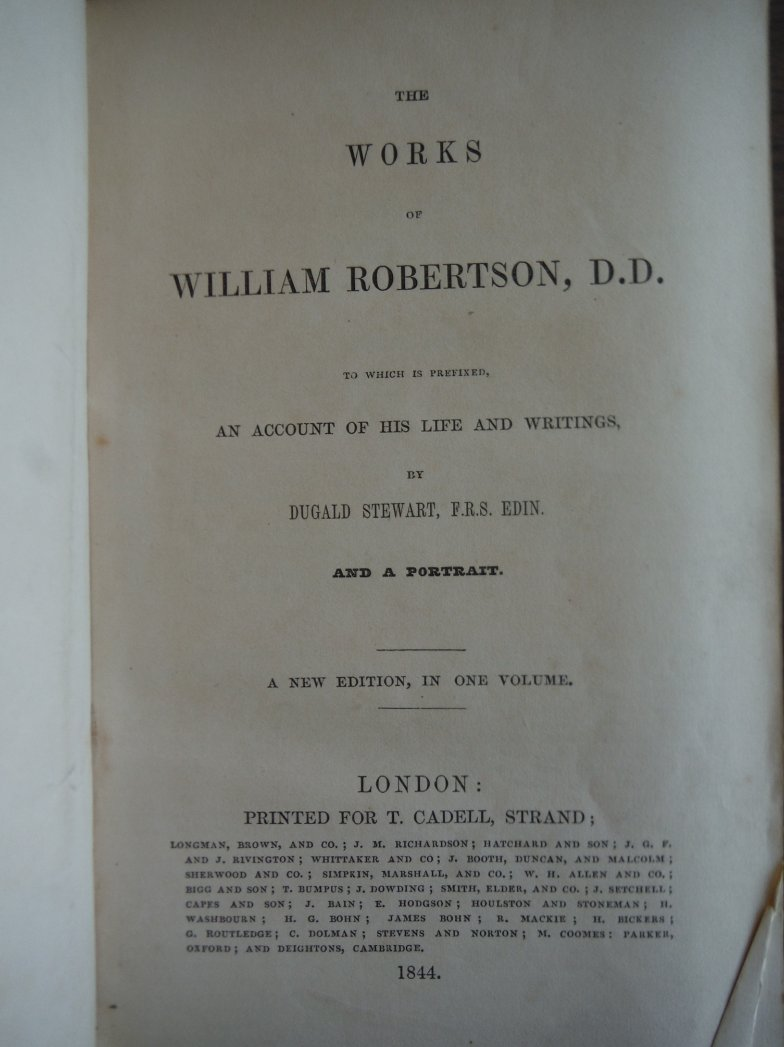 Image 1 of The Works of William Robertson, D.D. to which is Prefixed an account of his Life