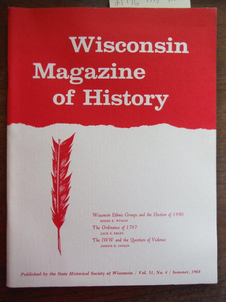 Image 0 of Wisconsin Magazine of History Vol 51, No. 4 Summer 1968