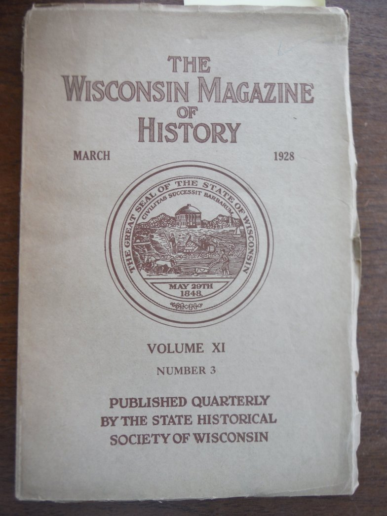 Image 0 of The Wisconsin Magazine of History March 1928