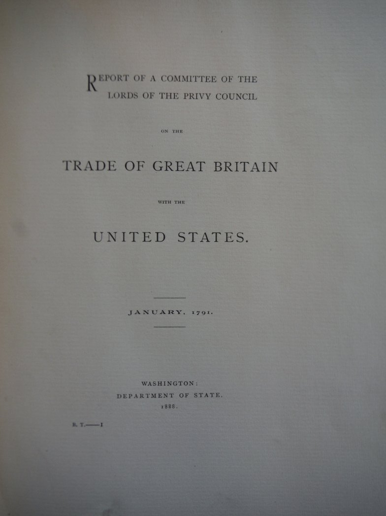 Image 1 of REPORT OF A COMMITTEE OF THE LORDS OF THE PRIVY COUNCIL ON THE TRADE OF GREAT BR