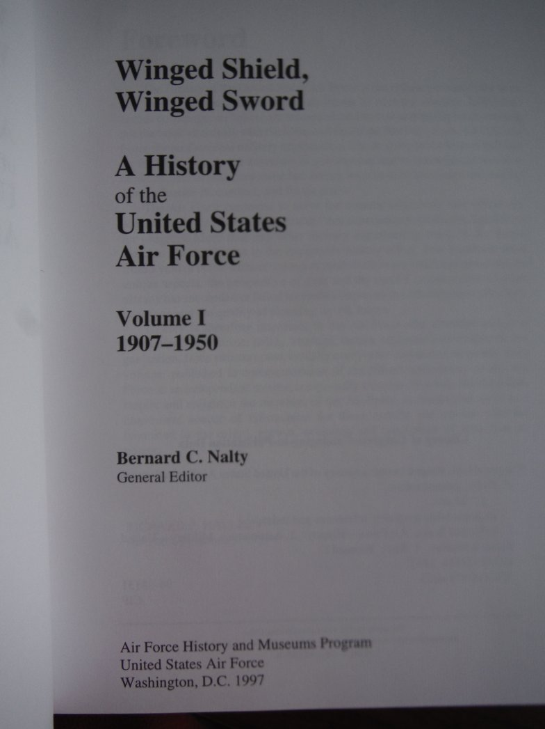 Image 1 of Winged Shield, Winged Sword: A History of the United States Air Force (2 Volume