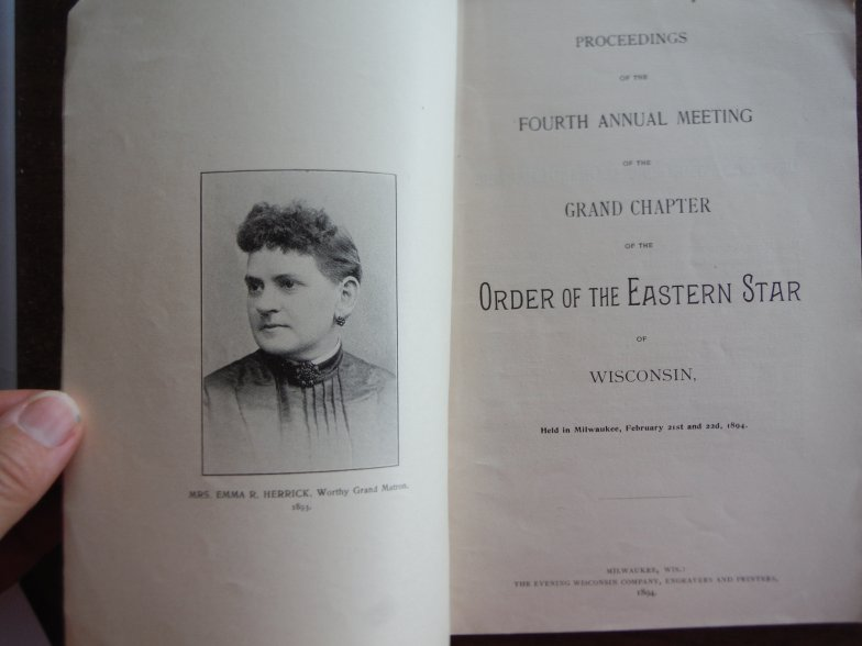 Image 1 of Proceedings of the Fourth Annual Meting of the Grand Chapter of the Order of the