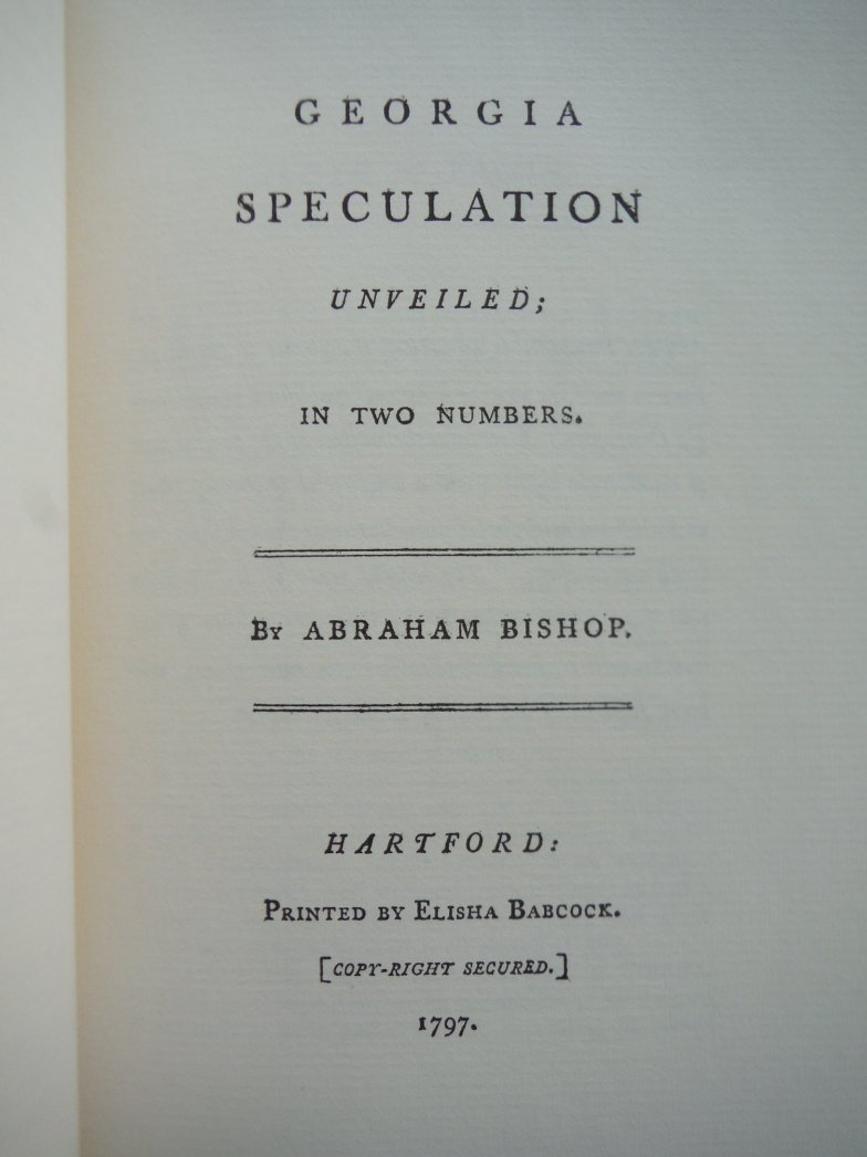 Image 1 of Georgia Speculation Unveiled: in two numbers (March of America Facsimile Series