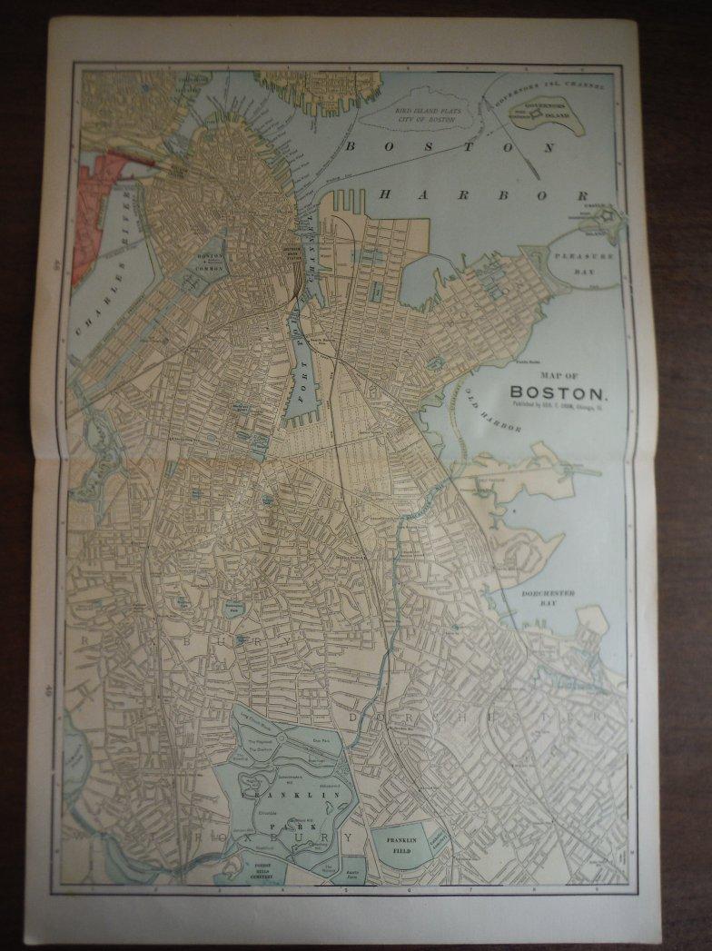 Image 0 of Cram's Map of Boston (1901)