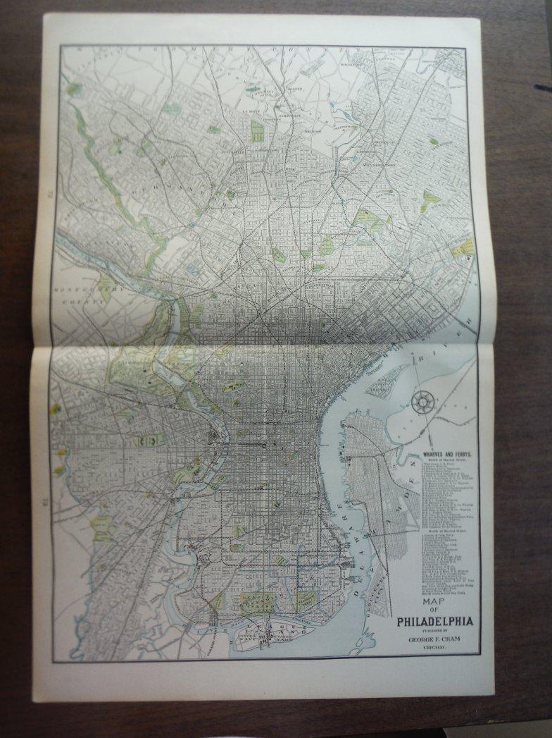 Image 0 of Cram's Map of Philadelphia (1901)