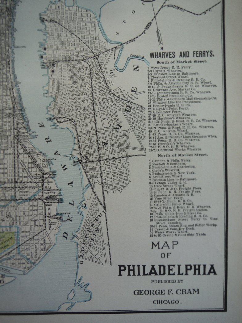 Image 1 of Cram's Map of Philadelphia (1901)