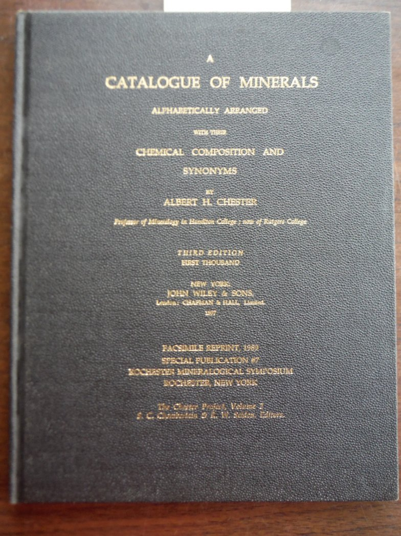 Image 0 of Catalogue of Minerals Alphabetically Arranged: With Their Chemical Composition a