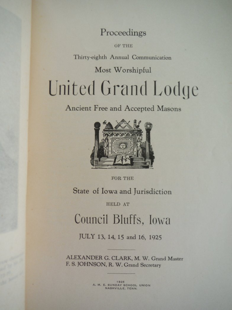 Image 1 of Proceedings of the Thirty-eighth Annual Communication Most Worpshispful United G