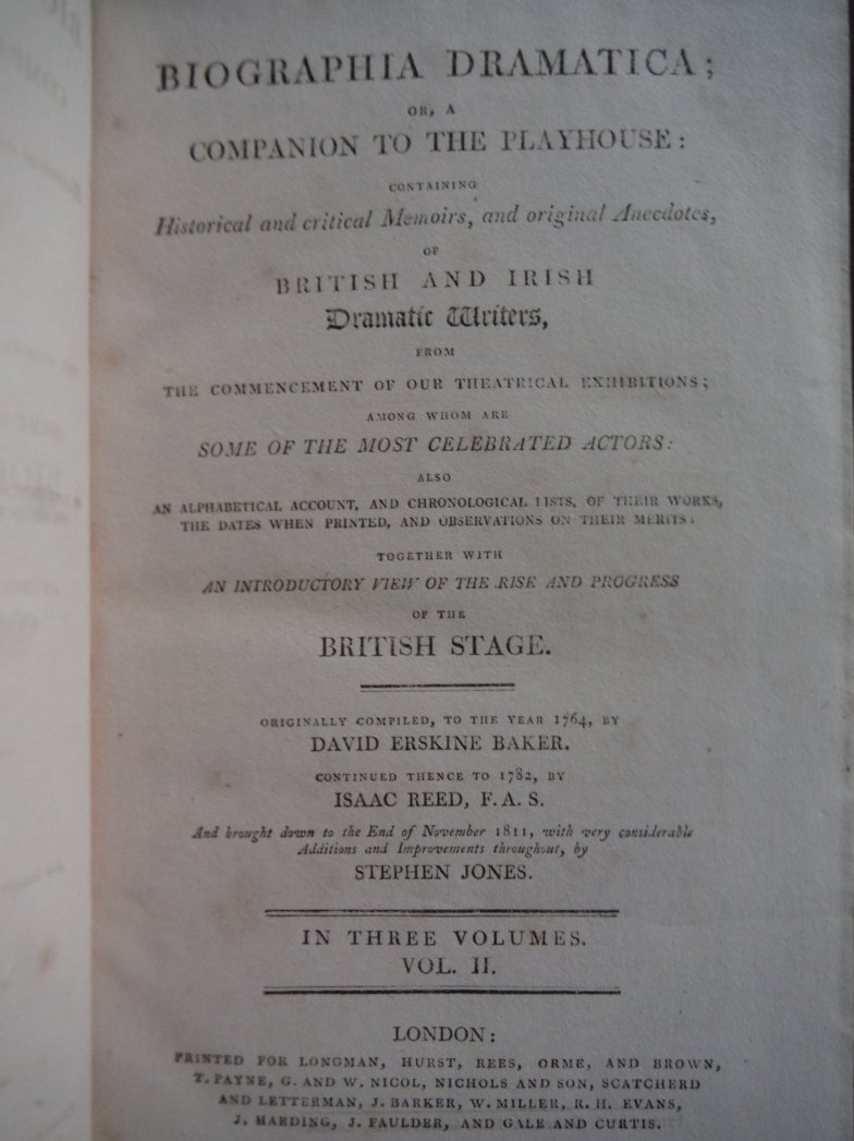 Image 1 of Biographia Dramatica; or a Companion to the Playhouse: containing historical and