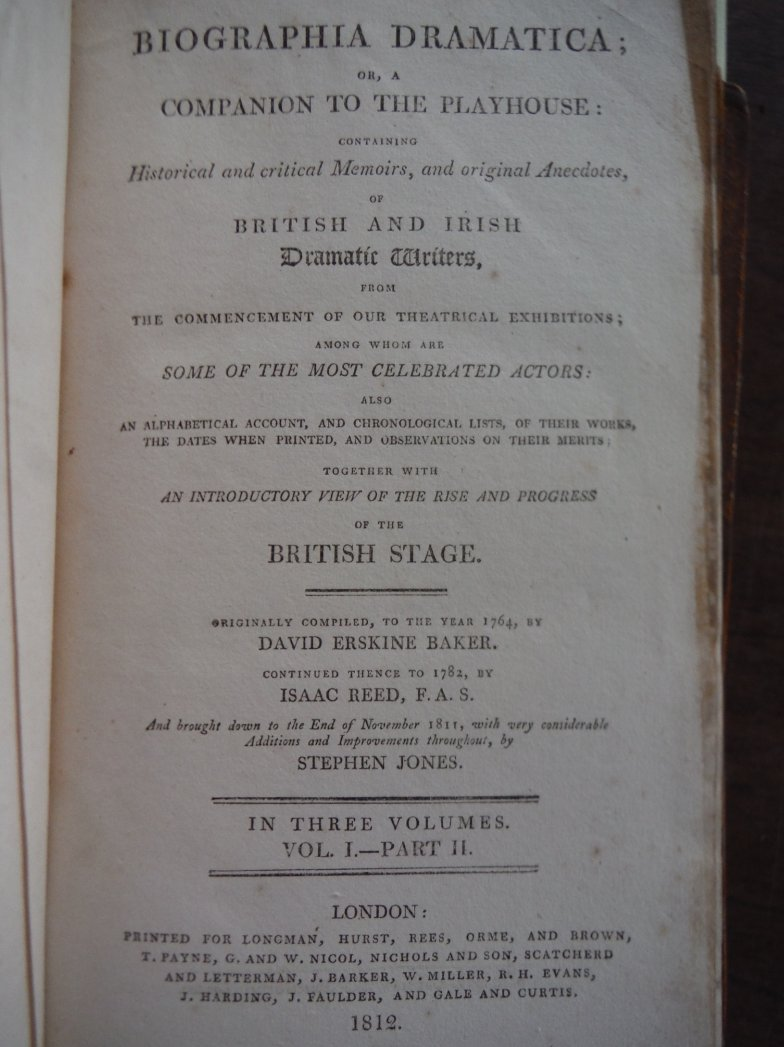 Image 2 of Biographia Dramatica; or a Companion to the Playhouse: containing historical and