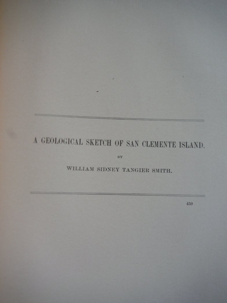 Image 0 of A Geological Sketch of San Clemente Island