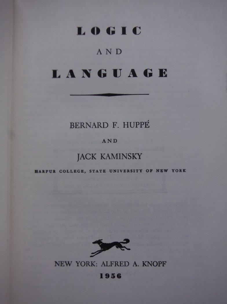 Image 1 of Logic and Language.