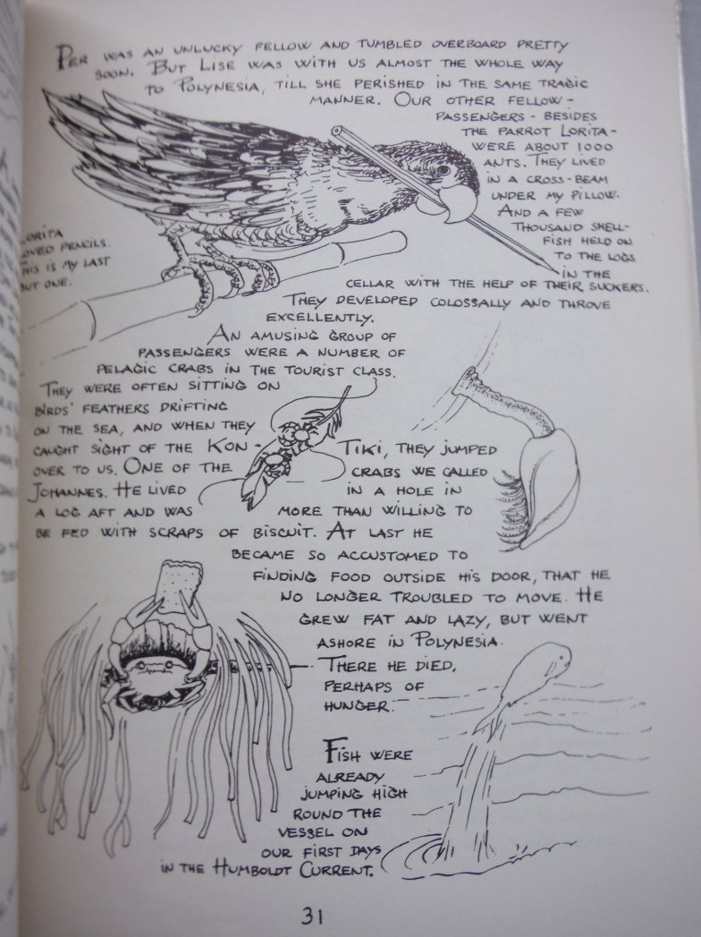 Image 1 of Kon-Tiki and I: A Sketch Book of the Famous Kon-Tiki Expedition By the Navigator