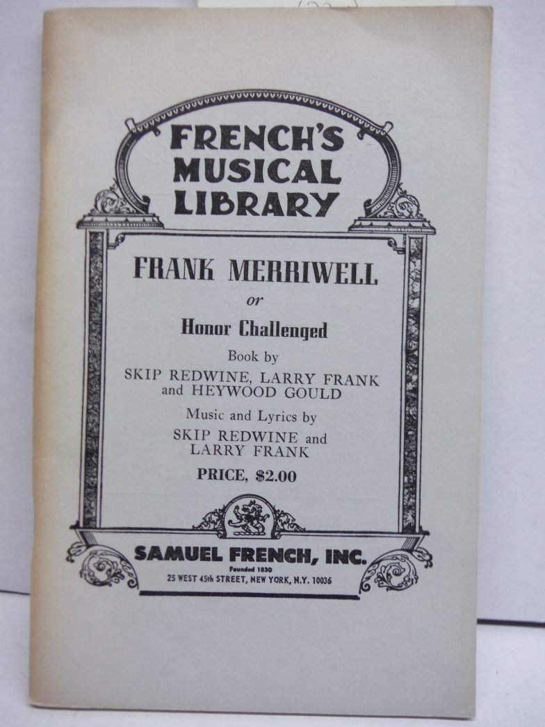 Image 0 of Frank Merriwell or Honor Challenged (French's Musical Library)