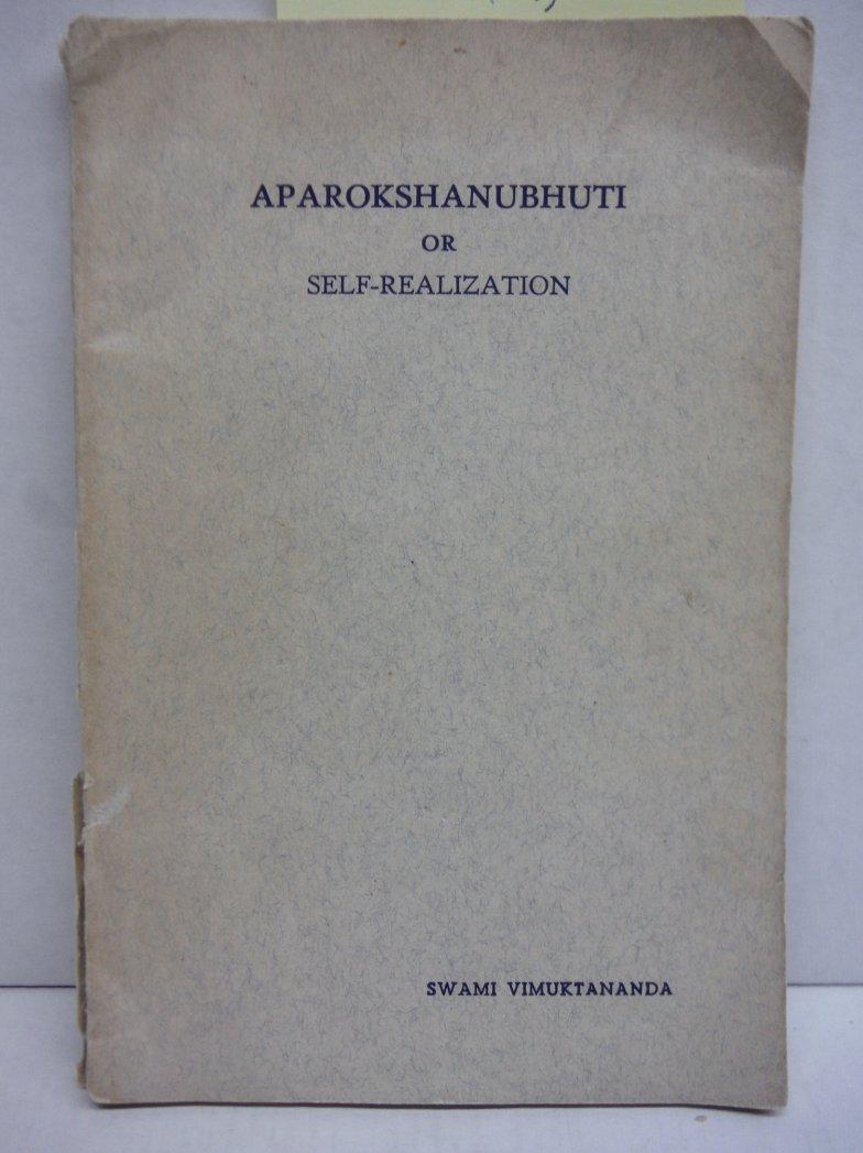 Image 0 of Aparokshanubhuti or Self-Realization