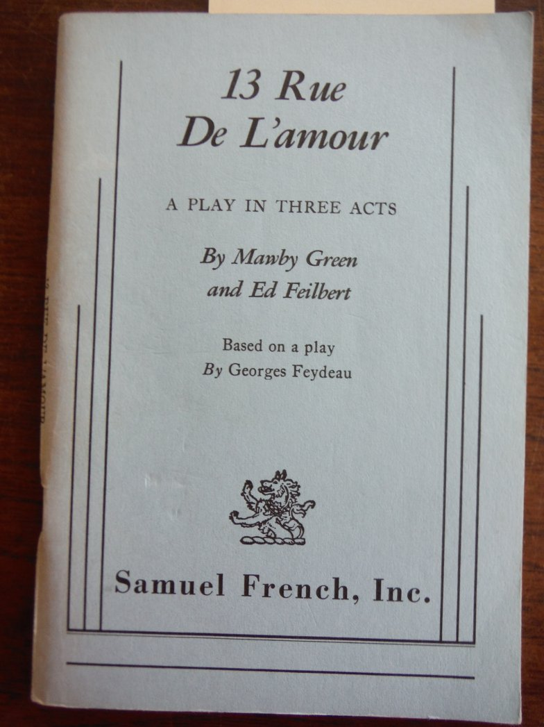 Image 0 of 13 Rue de L'Amour (Play in Three Acts)