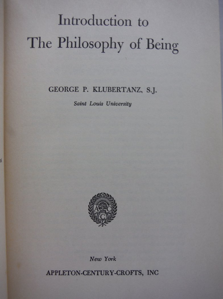Image 1 of Introduction to the Philosophy of Being
