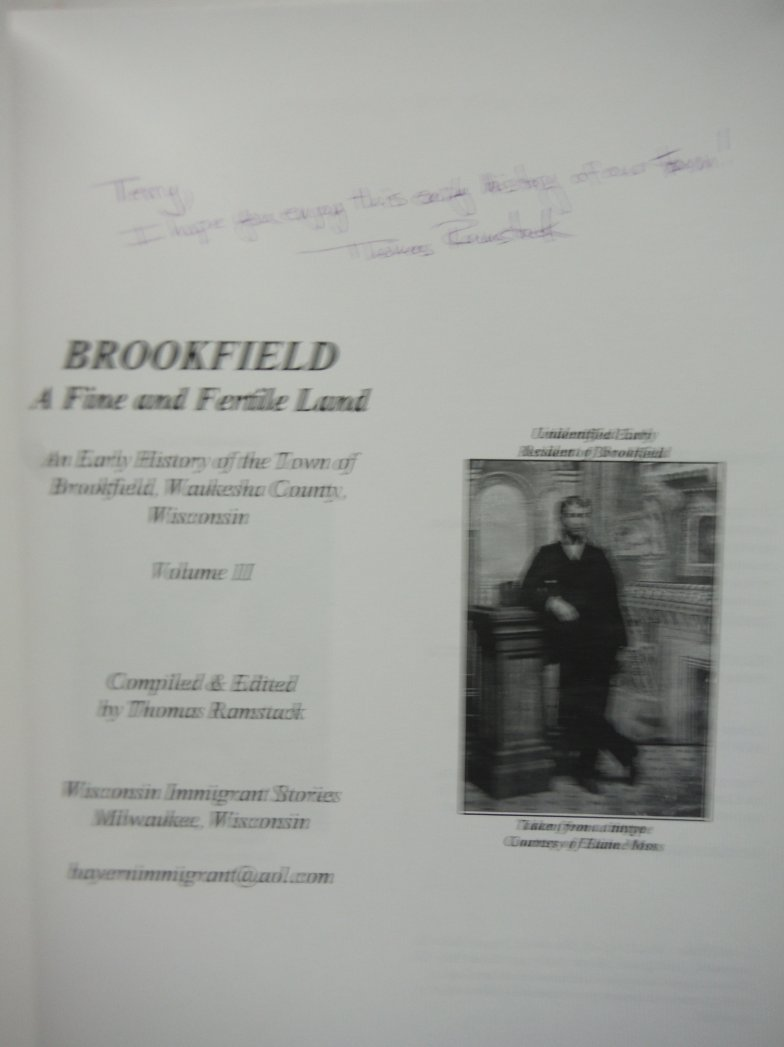 Image 2 of Brookfield: A Fine and Fertile Land: An Early History of the Town of Brookfield,
