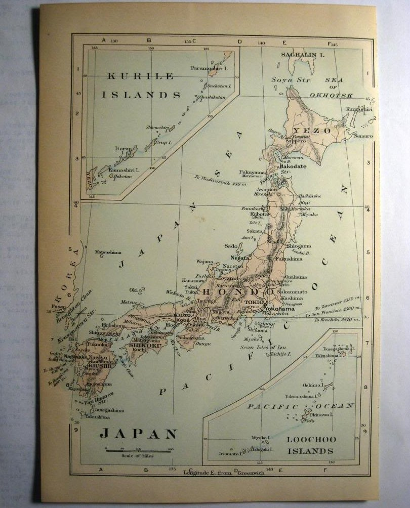 Johnson's  Map of Japan -  Original (1897)