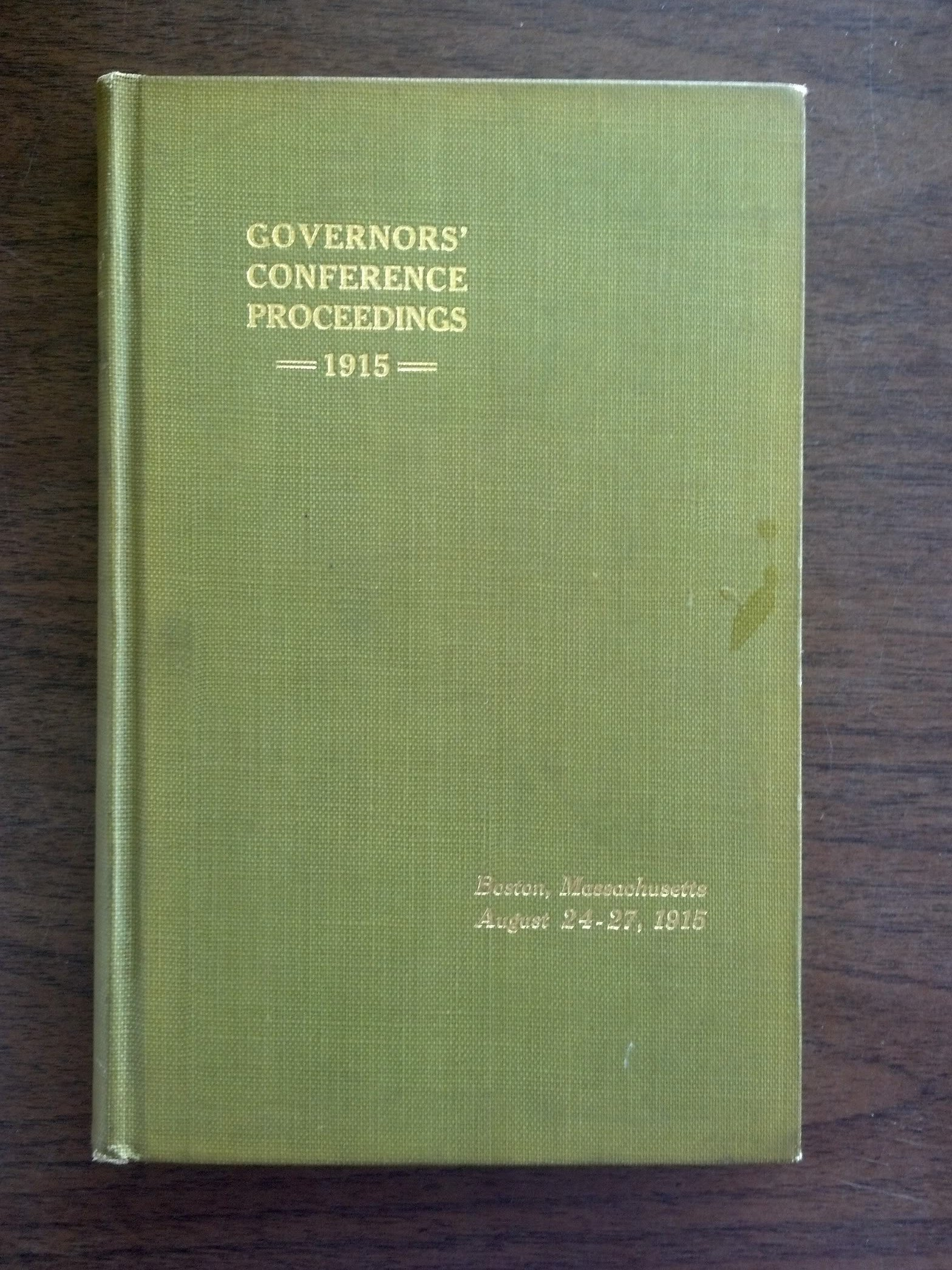 Proceedings of the Eighth Meeting of the Governors of the States of the  Union