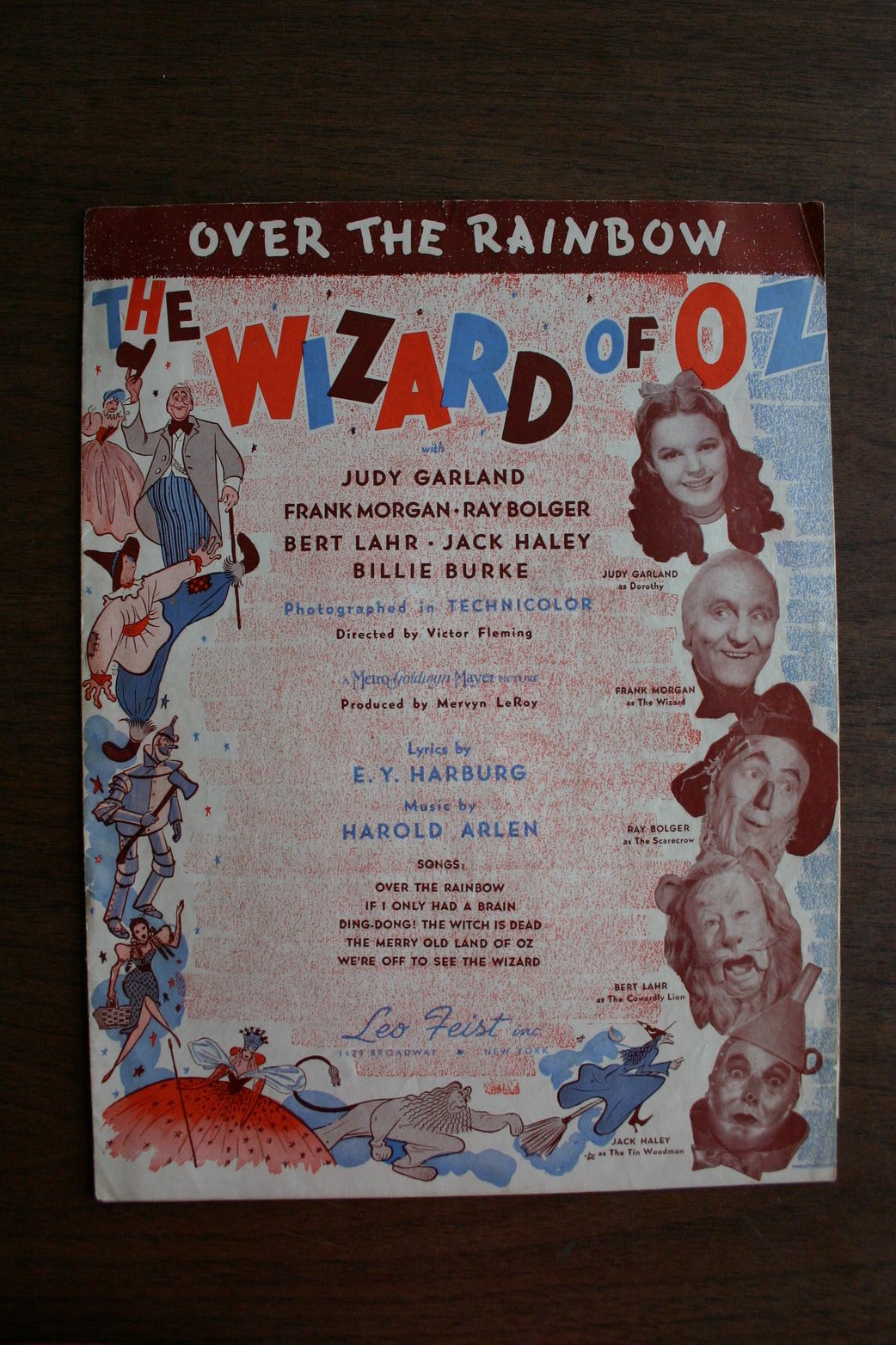 Over the Rainbow -- The Wizard of Oz Sheetmusic