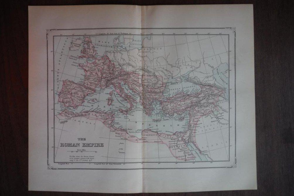 Johnson's  Map of the Roman Empire  Original (1895)