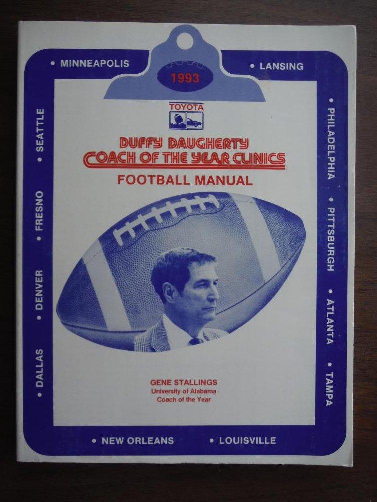 Duffy Daugherty Coach Of The Year Clinics Football Manual 1993