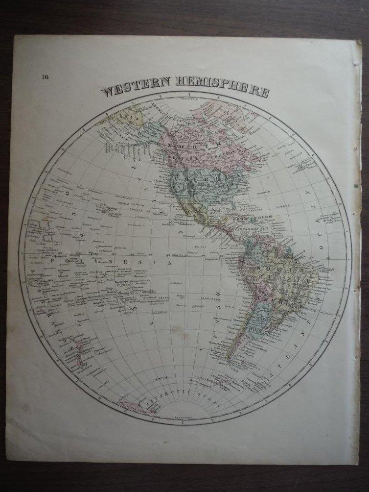 Maps: Western Hemisphere (1876)