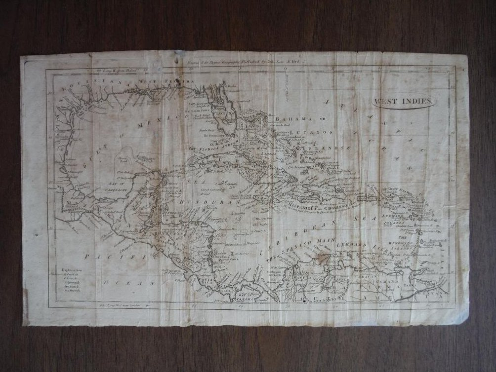 Payne's Map:  WEST INDIES