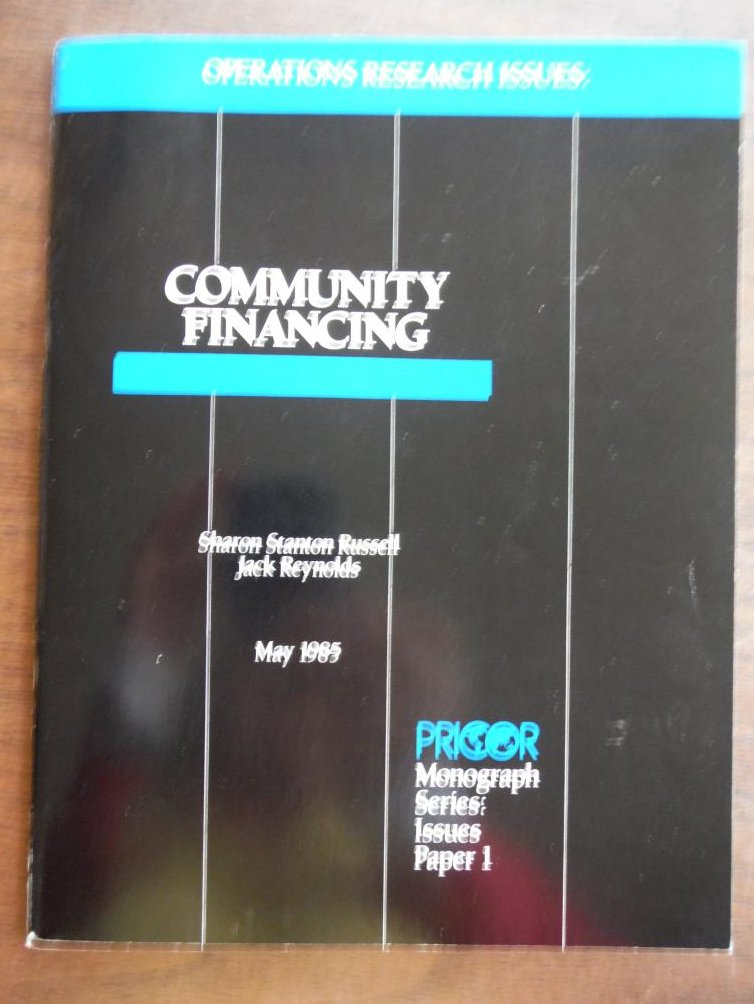 Operations Research Issues. Community Financing