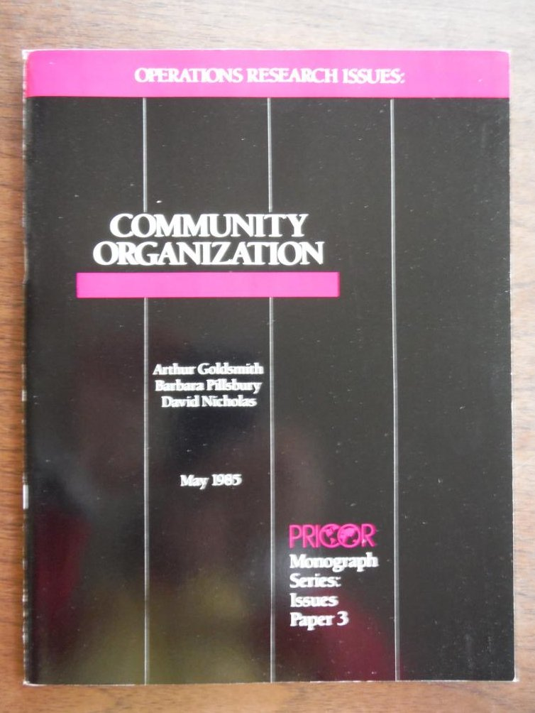 Operations Research Issues: Community Organization