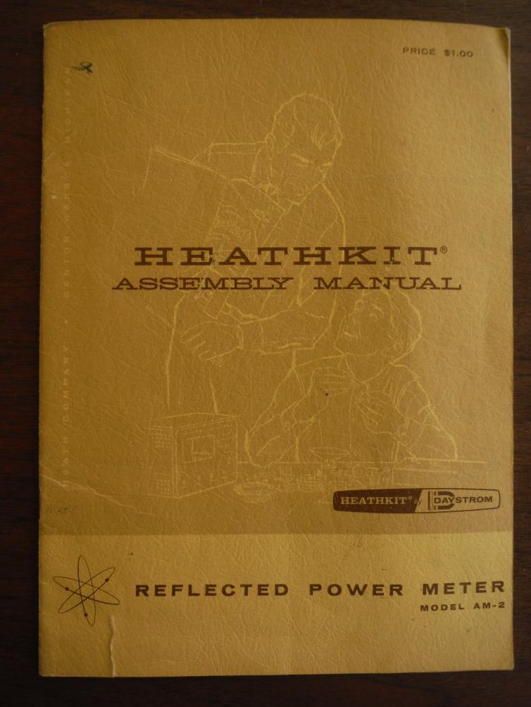 Heathkit Assembly Manual Reflected Power Meter Model A-2