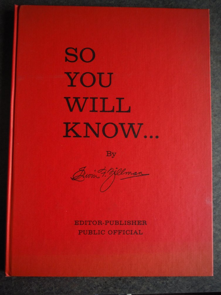 So you will know: A chronological treatment of events, developments, personal ex