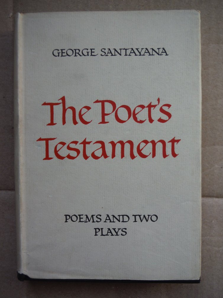 Image 0 of The Poet's Testament : Poems and Two Plays