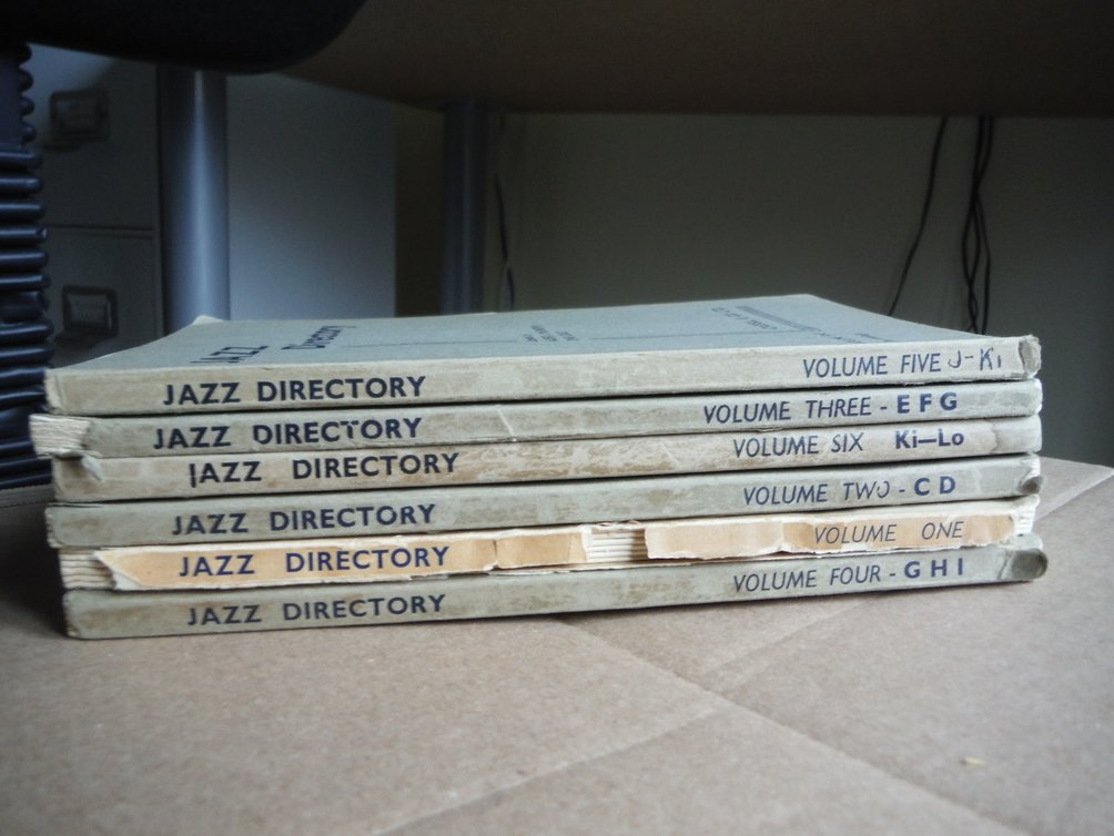 JAZZ DIRECTORY. The Directory of Recorded Jazz and Swing Music (Six Volumes)