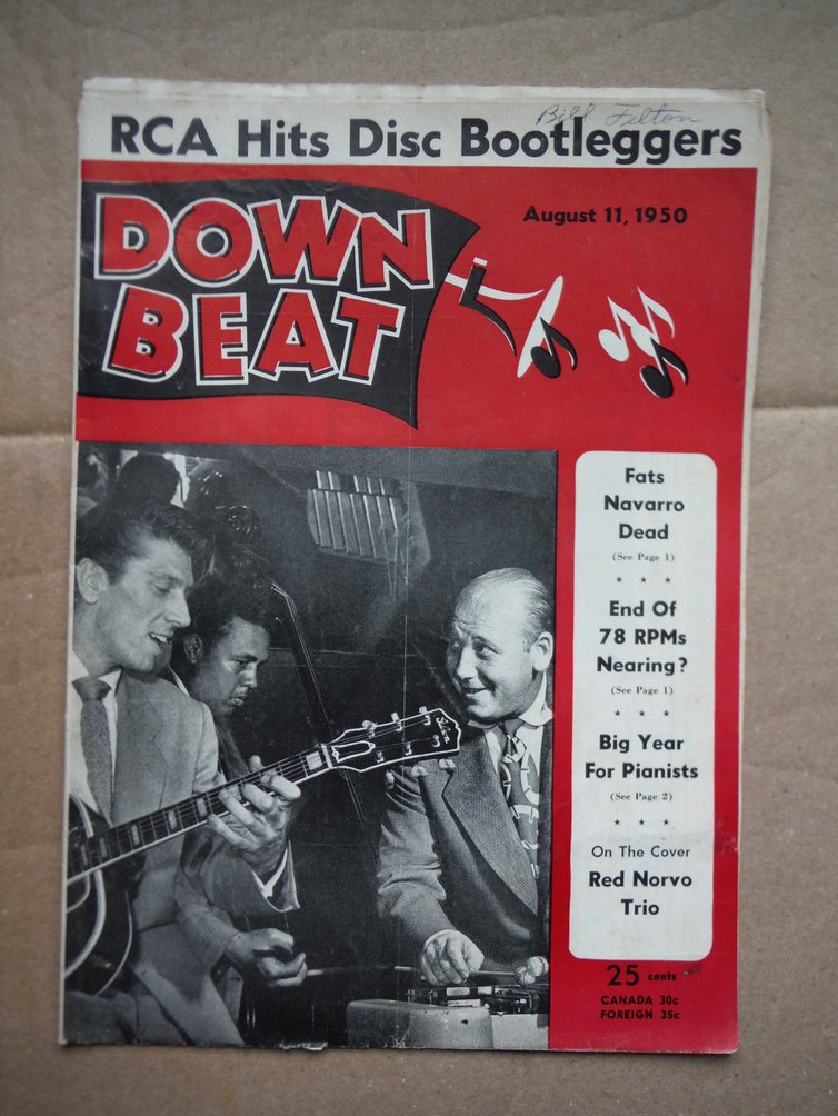 Image 0 of Down Beat Magazine August 11, 1950