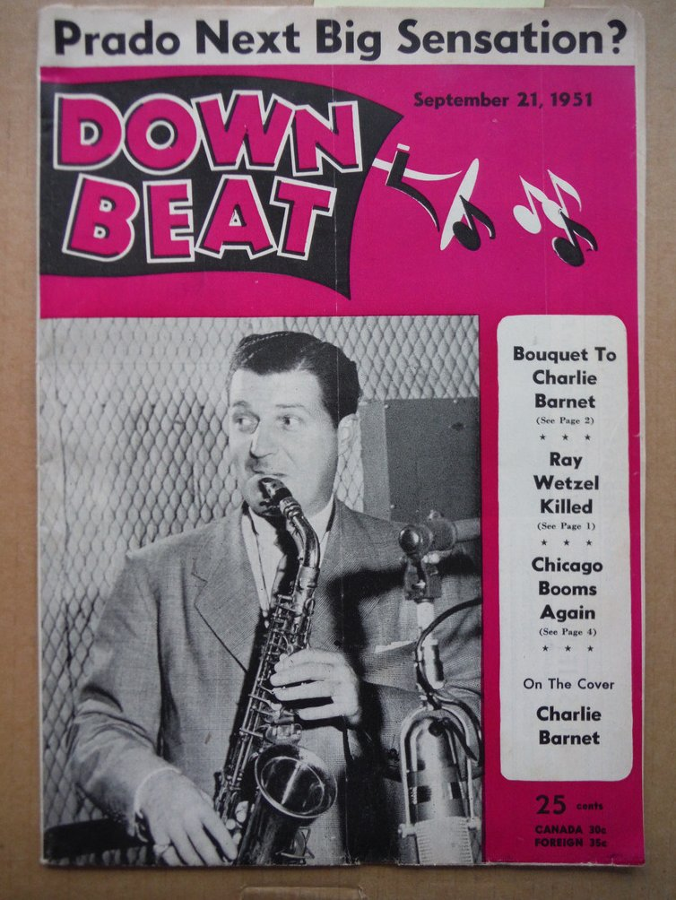 Image 0 of Down Beat Magazine - September 21, 1951