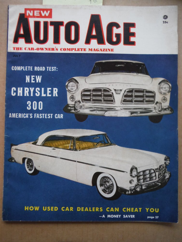 Image 0 of New Auto Age Magazine July 1955 (The Car-Owner's Complete Magazine)