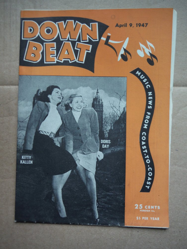 Image 0 of Down Beat Magazine April 9, 1947 Doris Day/ Kitty Kallen on Cover