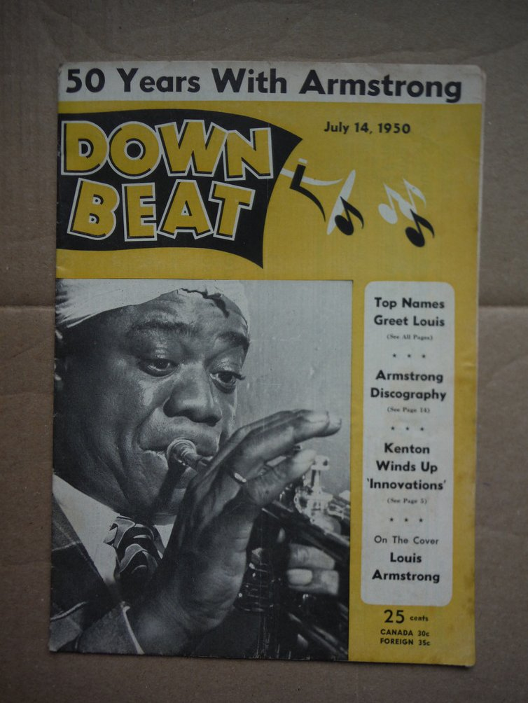 Image 0 of Down Beat Magazine July 14, 1950 (Louis Armstrong on the Cover)