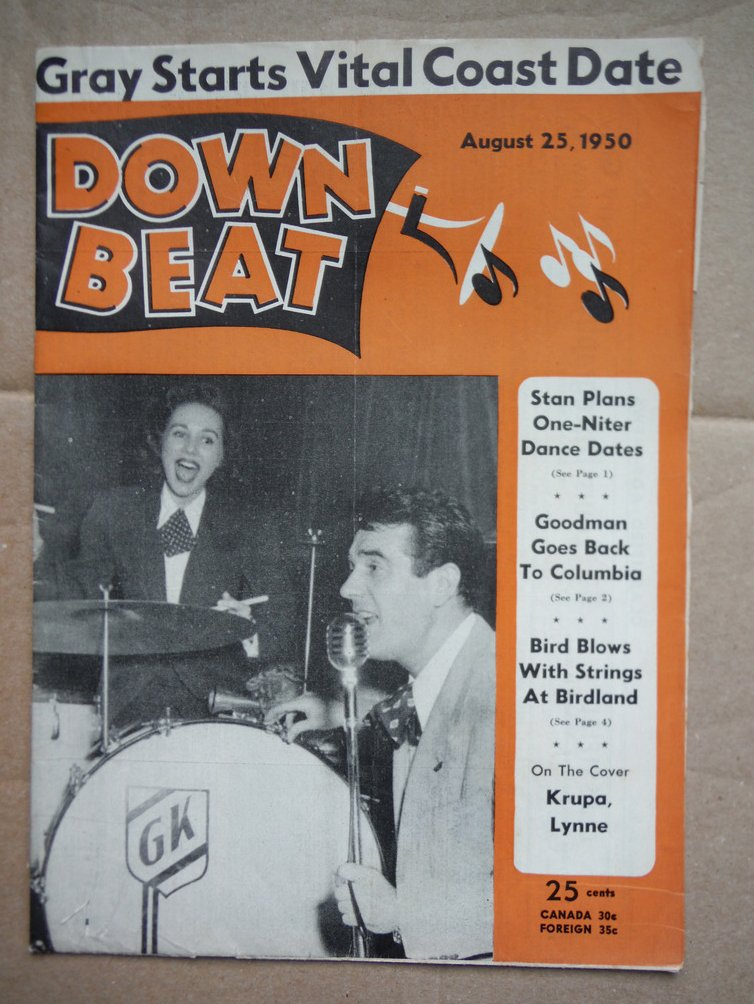 Image 0 of Down Beat Magazine August 25, 1950