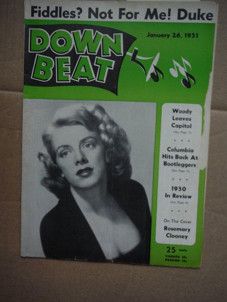 Image 0 of Down Beat Magazine - January 26, 1951