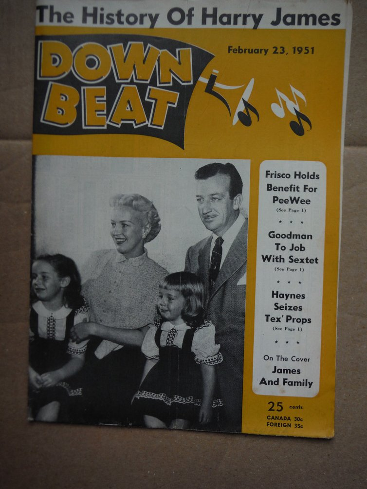 Image 0 of Down Beat Magazine -  February 23, 1951