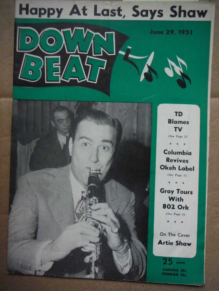 Image 0 of Down Beat Magazine - June 29, 1951